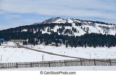 Mountain pass Seminski - Mount Tuyahty on mountain pass...