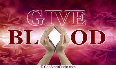 World Blood Donor Day Concept - Female hands held up to make...