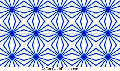 Rotating blue ripple fancy pattern