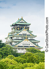 Magnificence of Osaka Castle, Japan.