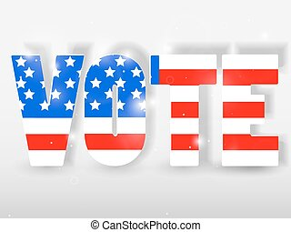 Vote buttons with red and blue colors. Vector illustration.