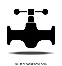 Sanitaryware tap icon - Sanitary Ware tap with shadow Flat...