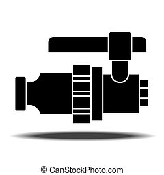 Sanitaryware tap icon. - Sanitary Ware tap with shadow. Flat...