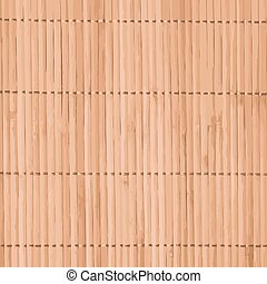 Vector bamboo background - Vector traditional bamboo mat for...