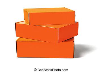 Three Orange Boxes