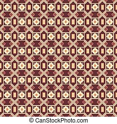 Abstract geometric pattern by stripes, lines. A seamless background. Brown and white texture arabic