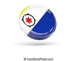 Flag of bonaire Round icon - Flag of bonaire, round icon 3D...