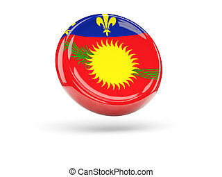 Flag of guadeloupe Round icon - Flag of guadeloupe, round...