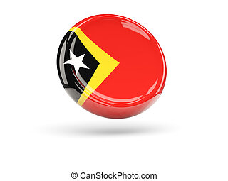 Flag of east timor Round icon - Flag of east timor, round...