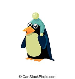 Penguin Wearing Winter Hat