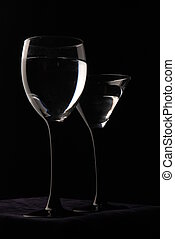 Wine glasses are ready for party - Wine glasses are ready...