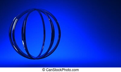 Blue Circle Abstract On Blue Text Space Loop able 3DCG...