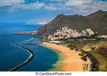 aerial view of the village San Andres and Las Teresitas...