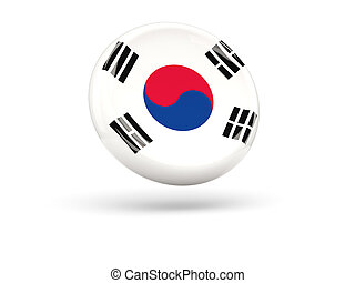 Flag of korea south Round icon - Flag of korea south, round...