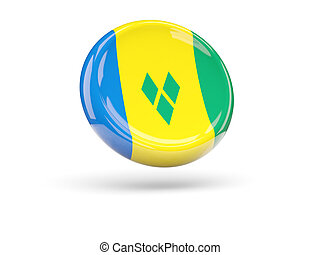 Flag of saint vincent and the grenadines Round icon - Flag...
