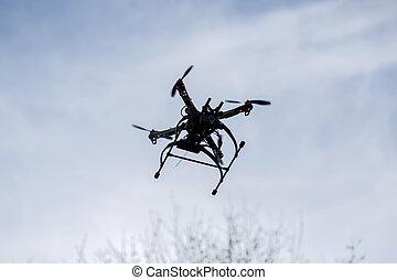 カメラ, 飛行, 空, 無人機