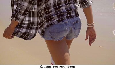 Hot Sexy Legs of wiman on beach - Hot sexy legs of young...