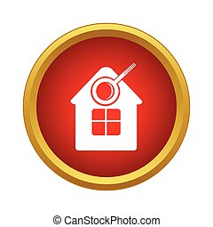 Search home icon, simple style