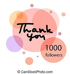 Thank you hand draw. 10000 followers. Web design for site,...