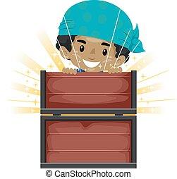 Kid opening Treasure Chest