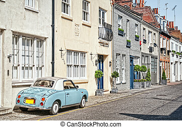 London Mews - Cosy mews houses in Chelsea, London, England,...