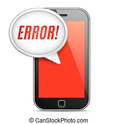 Mobile Phone Error Message - Mobile phone displaying error...