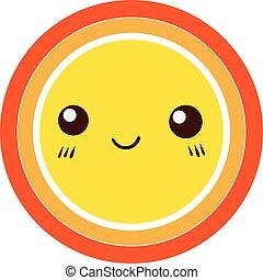 Cute Colorful Sun icon. vector design element.