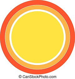 Colorful Sun icon. vector design element.