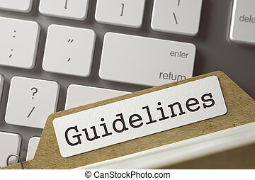 Sort Index Card with Guidelines - Guidelines Concept Word on...