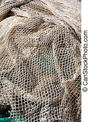 fishing net on the dock