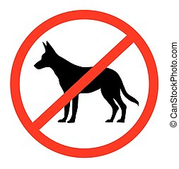 No dogs sign - vector illustration