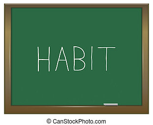 Habit word concept. - Illustration depicting a green...