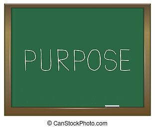 Purpose word concept - Illustration depicting a green...