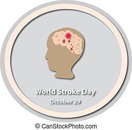 World Stroke Day - October 29 Brain Baner Infographics...