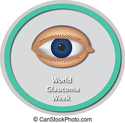 World Glaucoma Week 6 -12 March Eye Baner Infographics...