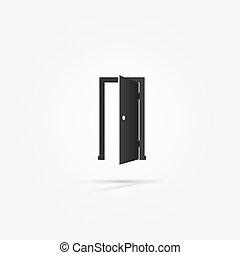 Open door icon - Open door isolated icon simple eps10 vector