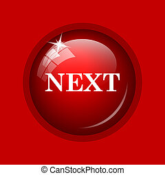 Next icon Internet button on red background