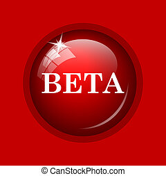 Beta icon Internet button on red background