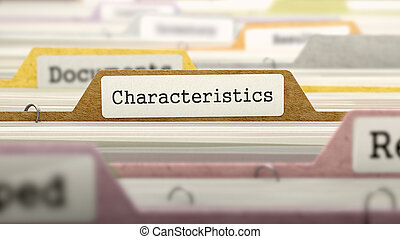 Characteristics on Business Folder in Catalog -...