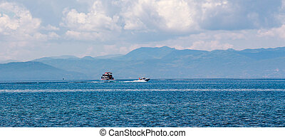 Lake Ohrid in June - Picture of a Lake Ohrid Macedonia , in...