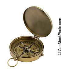 vintage brass compass - vintage brass pocket compass...