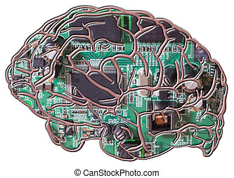 Artificial Intelligence - A photo of a circuit board as the...
