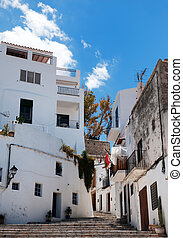 houses in old Ibiza town