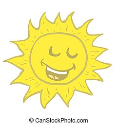 smiling sun cartoon illustration