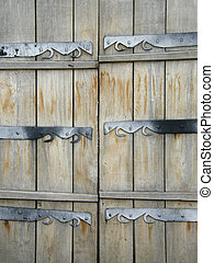 Old wooden gate texture