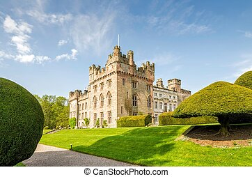 Manicured lawns outside Hutton in the Forest, Cumbria,...