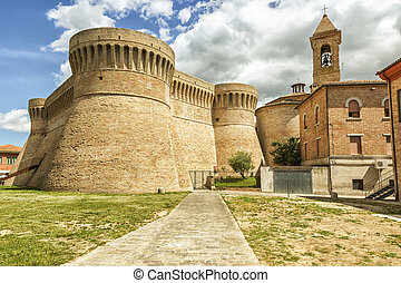 castle Urbisaglia Marche Italy - An image of the castle...