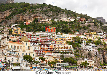 Village of Positano - Beautiful view of the colorful houses...