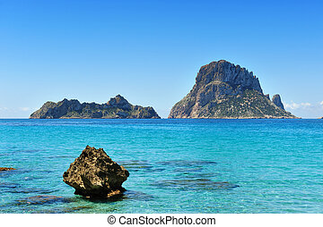 Es Vedra Cala dHort Ibiza Spain - The islands and turquoise...