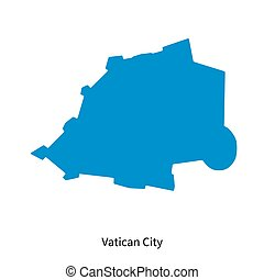 Detailed vector map of Vatican City